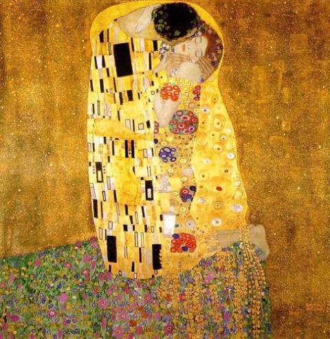 Gustav Klimt - The Kiss, 1907-1908 - The Österreichische Galerie Belvedere, Vienna, Austria